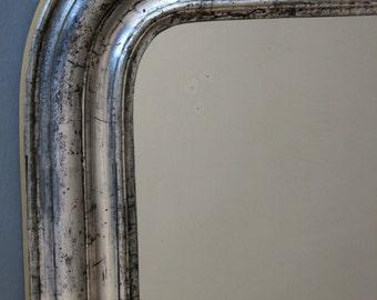 Silver mirror: Antique Mirror, Louis-Philippe French mirror, wall mirror