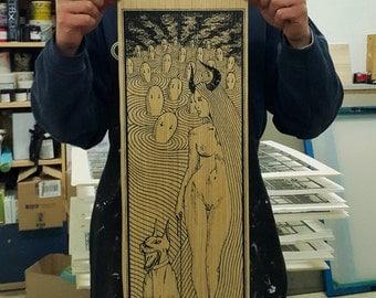 Femme Fatale - Wood Version - Handpulled Silkscreen Poster