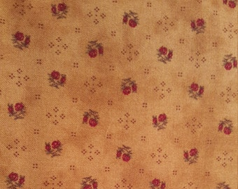 "Floral Print ""Porch Swing"" By: Brannock & Patek For Moda Fabric. Sold by 1/2 yard"