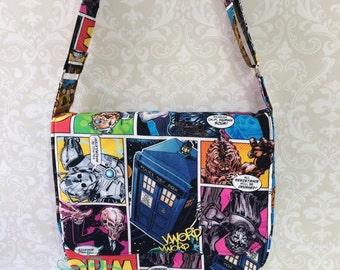 Doctor Who Inspired Messenger Bag