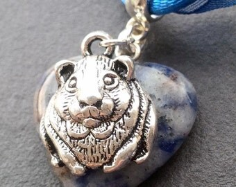 Sodalite and Guinea Pig Necklace