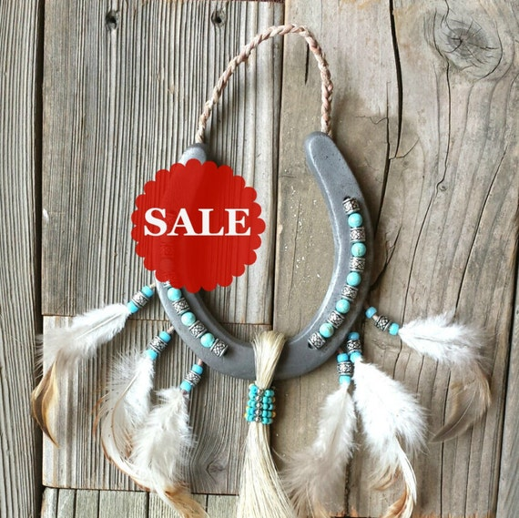 Native American Home Decor: SALE Decorated Horseshoes Wall Hangings By EECustomHorseShoes