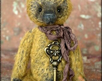 SALE 40% Artist Teddy Bear Dorotheus 8 inches from NadyaBears.OOAK Vintage Teddy Bear