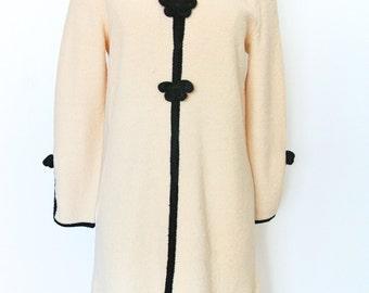 SALE 20% OFF 1960's Vintage Original Designer Adolfo New York Long Sleeeve Sweater Dress