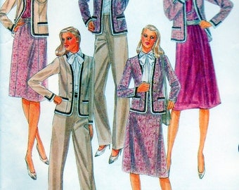 """UNCUT Vintage sewing pattern McCall's 7748 Misses' Jacket, Blouse, Skirt and Pants Bust 38"""""""