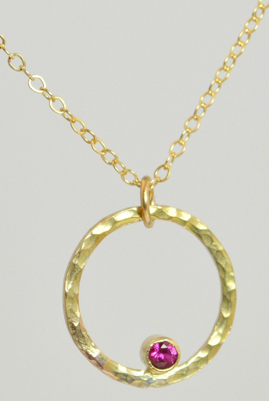 14k gold filled ruby necklace mothers necklace mom necklace. Black Bedroom Furniture Sets. Home Design Ideas