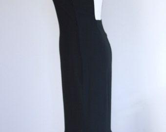 Long black dress / dress cut out / evening dress / dress ruffles / boho chic