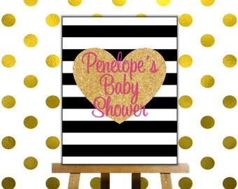 Kate Spade inspired Baby Shower Sign - 8x10 Baby Shower Sign - Kate Spade Welcome Sign
