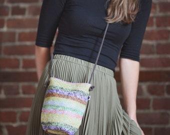 10 Sale - Raffia Crossbody Bag Color Blend