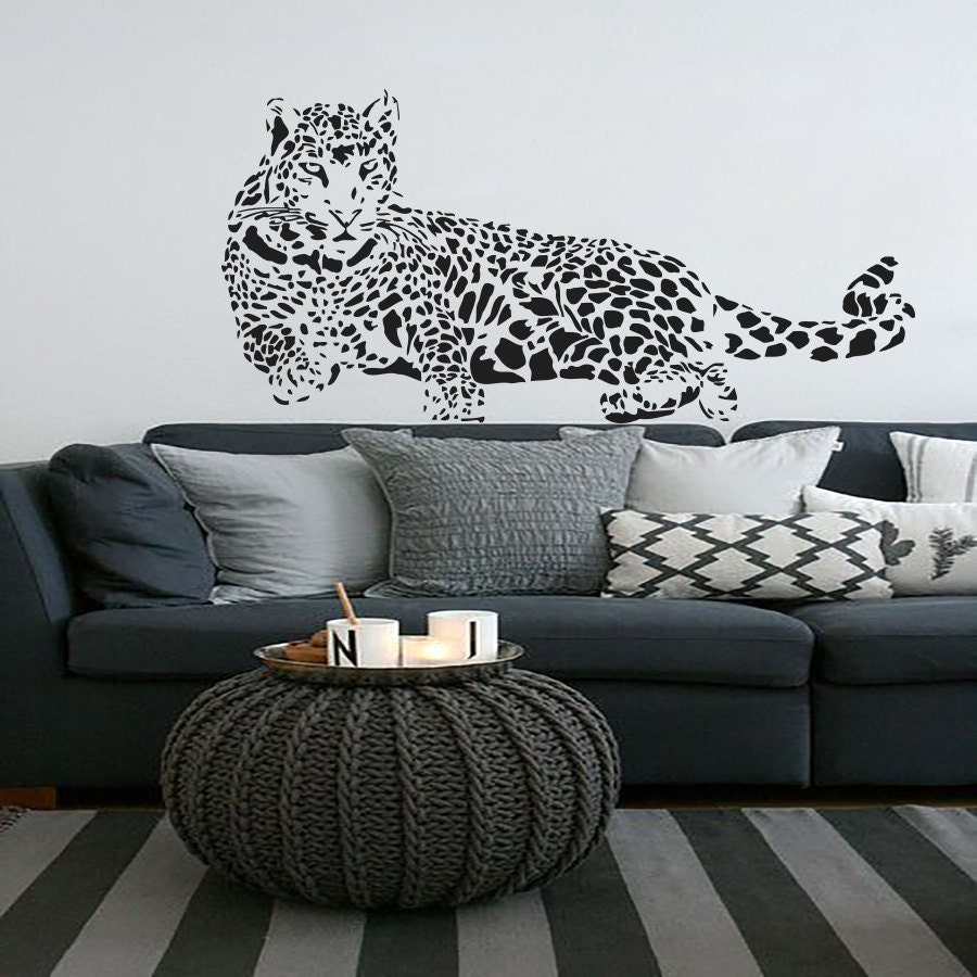 leopard wall decals vinyl sticker room decal nursery by leopard wall decals decorative cheetah leopard vinyl