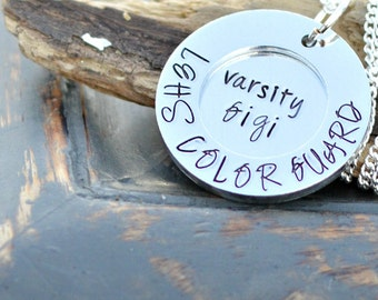 Colorguard Necklace | Color Guard Necklace | Color Guard Gifts | Color Guard Coach | End of year gifts from Coach | Winter Guard | Varsity