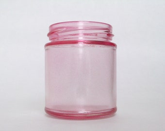 Shabby chic glass mason jar tea light candle holder lantern, ideal for weddings & parties. Hint of red