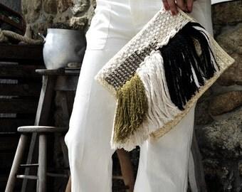 Straw bag / handwoven / Ranran design