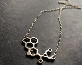 LSD Necklace, LSD Molecule Necklace, Molecule Necklace, Science Jewellery, Science Jewelry,Mothers Day Gift