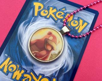 Pokemon Slowbro Necklace...Handmade using official TCG cards