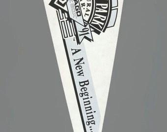 """1991 Chicago White Sox Vintage Large Felt MLB Baseball Team Souvenir 30"""" Flag Full Size"""