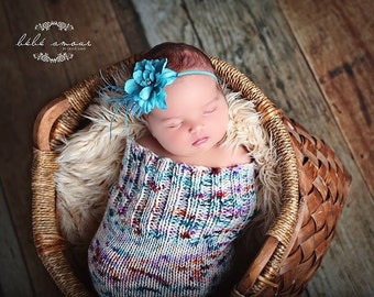 Sprinkled With Love Newborn Knitted Baby Cocoon, Photography prop