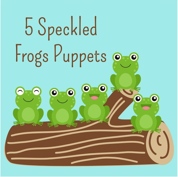5 Little Speckled Frogs Printable Puppets Instant Digital