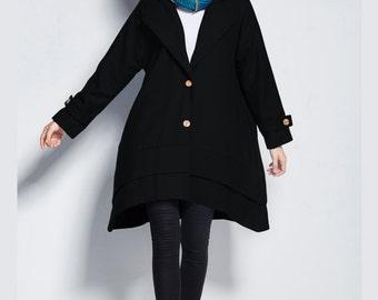 Any Size stylish Wool  warm coat wool jacket plus size clothing plus size coat wool windbreaker Y202