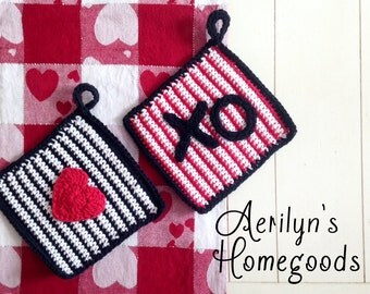 L'Amour Dishcloths (Red) - Set of 2