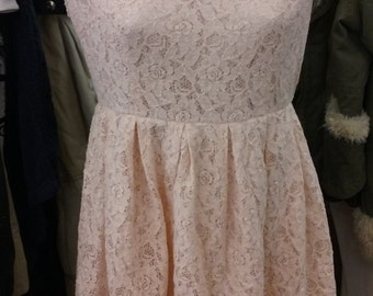 Lacey Skater in Bubble Gum Pink, Vintage Cottage Chic