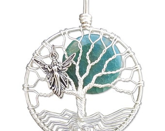 Fairy Tree of Life Pendant Wire Wrap Tree of Life Necklace