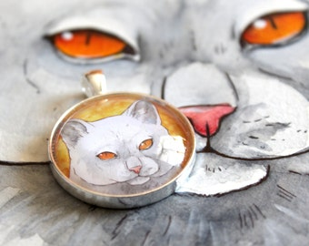 ADD ON. Turn your custom pet portrait of any kind into a 30mm pendant or keychain.