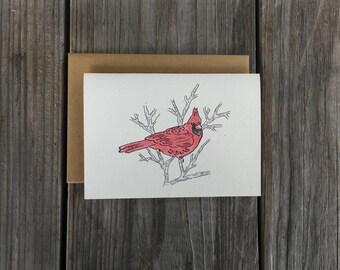 Cardinal Art, Cardinal Gift, Cardinal Note Card Set