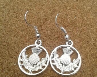 Scottish Thistle Drop Earrings