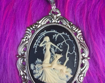 Forest Maiden Cameo Pendant Necklace