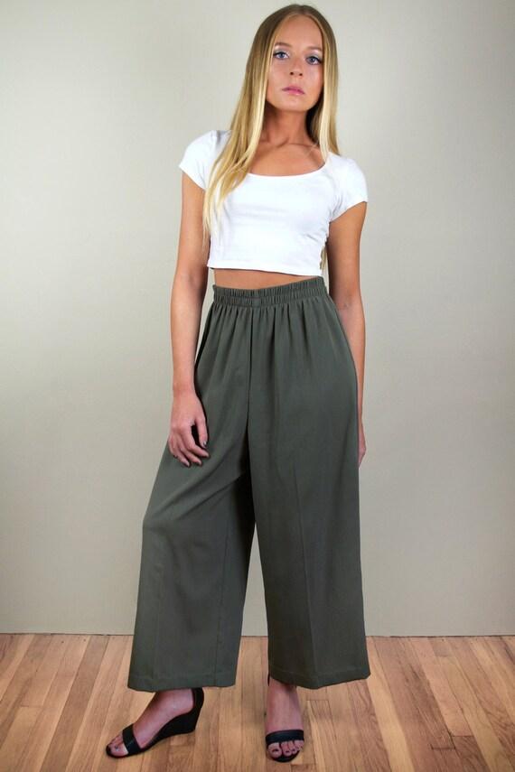 Vintage 80s Culotte Wide Leg Pants
