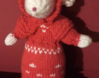 Sale - Hand knitted Mouse
