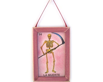 La Muerte Picture, Death Magnet, Loteria, Home Decor, Office Gift, Thank You Gift, Small Gift, Gift For Him, Gift For Her, Fridge Magnet
