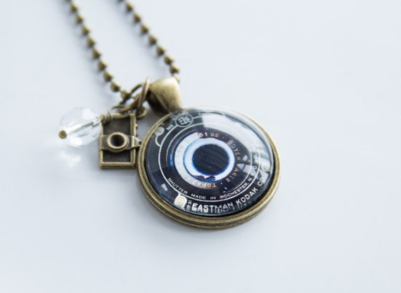 camera lens necklace photography jewelry gift for