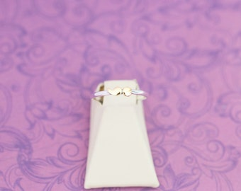 Sterling Silver and Brass Stacking Ring  - Project Semicolon - My Story Isn't Over Yet ; - Semicolon Project