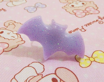 Pastel blue and lilac mixed bat ring