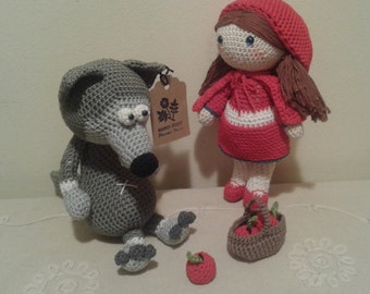 Crochet Little Red Riding Hood & Wolf (2-Pack)