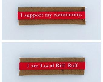 Local Riff Raff Co. Slogan Wristband