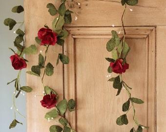 Paper Mistletoe & Rose Garland