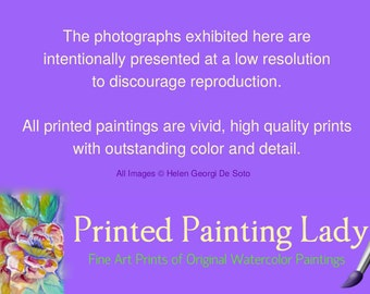 Printed Painting Lady Original Watercolor Painting Prints - 11 x 14 Art Prints - Matted Prints {to 16 x 20}  Home Decor Wall Art - Guaruntee