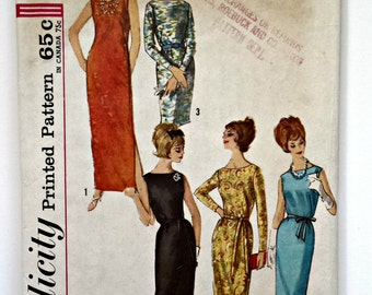 Simplicity Pattern 5016 - 1960s Shift Dress Pattern - 1960s Dress Pattern