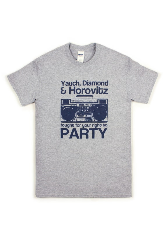 Right to party t shirt hip hop ny new york city by for T shirt screen printing nyc