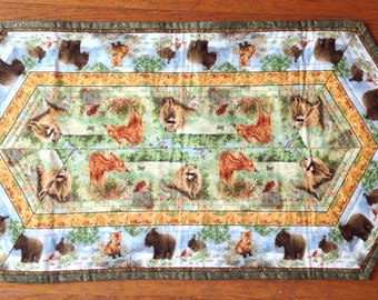 105 Baby Animals Quilted Table Runner