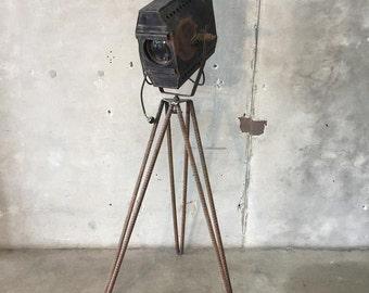 Re-purposed Movie Light with Metal Stand (C49K5P)