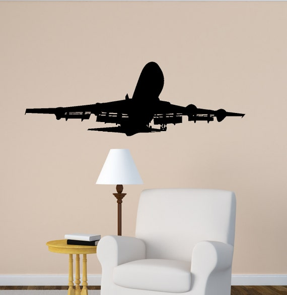 Airplane Wall Decal Jet Airliner Sticker Aircraft Jumbo Jet