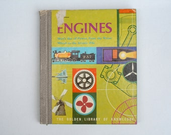 Engines Golden Library of Knowledge Book Man's Use of Power, from the Water Wheel to the Atomic Pile