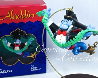 Enesco A Magic Moment Aladdin The Genie Disney Ornament Treasury of Christmas Magician Friend Like Me Vintage MIB