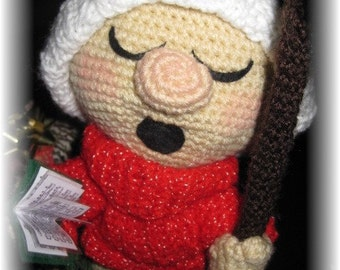 tutorial in french small singer of Christmas crochet