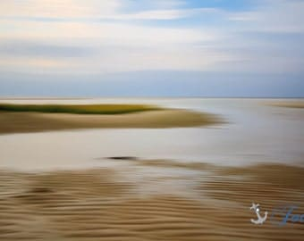 Chapin Beach ~ Dennis, Cape Cod, Abstract, Beach Photography, Sunset, Coastal Home Decor, Nautical, Interior Design, Ocean, Artwork, Joules