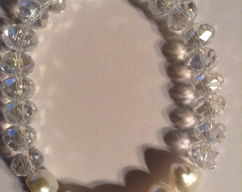 Cultulred Pearls and Crystles Bracelet set